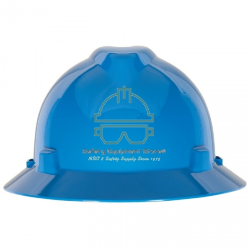 w//Staz-On Suspension MSA Safety 10156374 V-Gard Slotted Full-Brim Hat Hot Pink